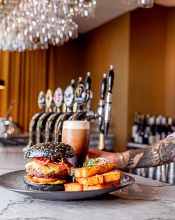 Burger & pint  bartender hand portrait. .jpg