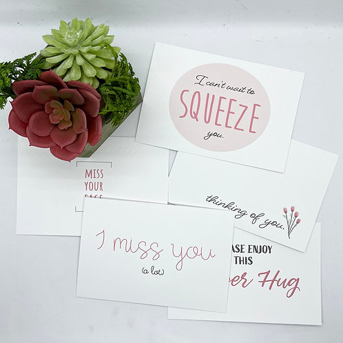 Miss You Greeting Cards and Postcards (Set of 10!)