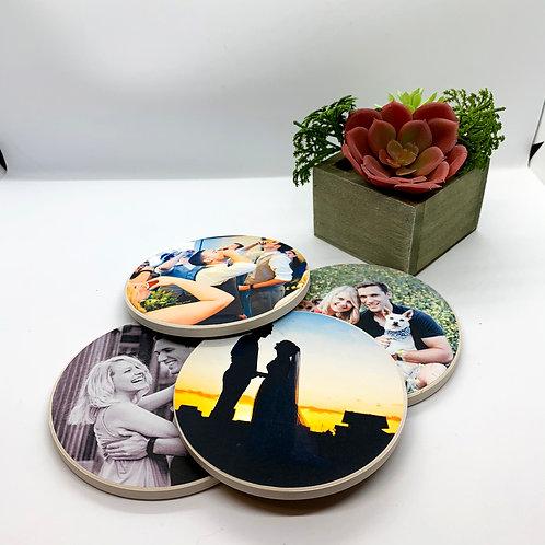 Personalized Photo Coasters (Set of 4!)