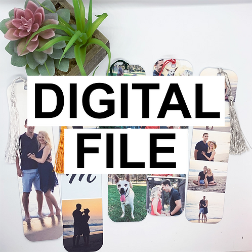 Digital Photo Bookmark Template, Digital Canva Template, Bookmark Canva, Printab