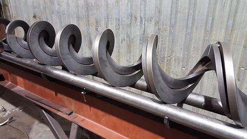 285mm OD triple shaftless screw