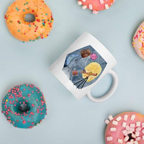 The Astronomer White glossy mug
