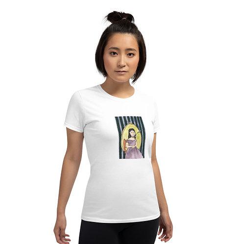 Green Ribbon Girl Women's short sleeve t-shirt