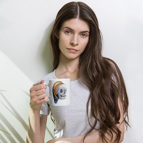 Tudor Skull White glossy mug
