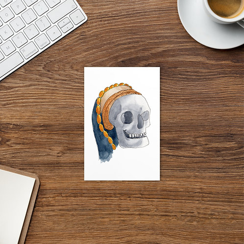Tudor Skull Standard Postcard