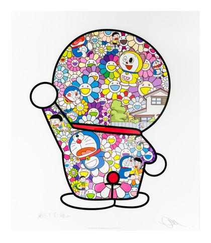 Doraemon in the flower Takashi Murakami