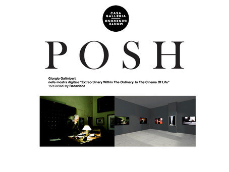 Feature on Giorgio Galimberti's show by POSH Magazine