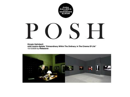 Feature on Giorgio Galimberti's show by POSH Magazine
