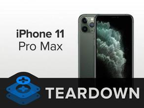 iFixit 拆解iPhone11 Pro Max,細膩工藝超驚嘆!