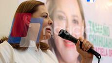 Anuncia Graciela defensa del agua en su gira por Delicias