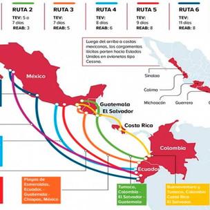 México y Colombia hallan rutas de tráfico