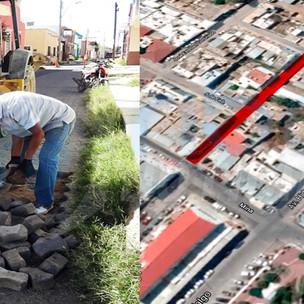 Retiran adoquin en sector del centro; preparan iniciación de pavimentación.