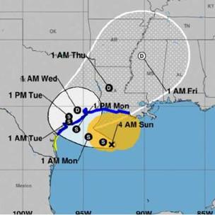 """Texas y Luisiana en alerta por tormenta """"Beta"""""""