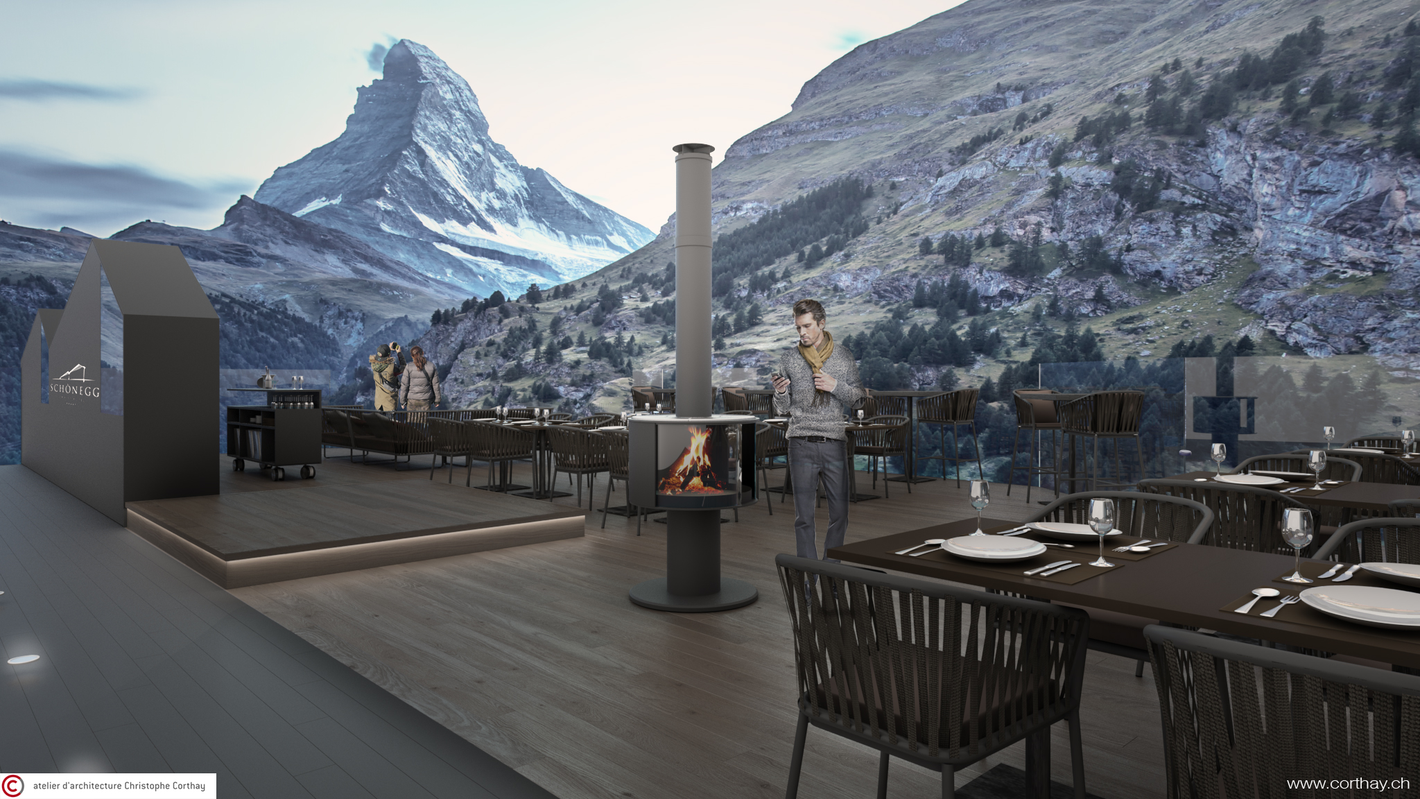Hotel Schonnegg - Vue terrasse