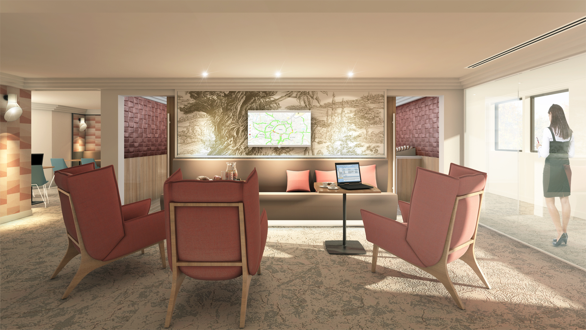 Hotel Evergreen - Business lounge