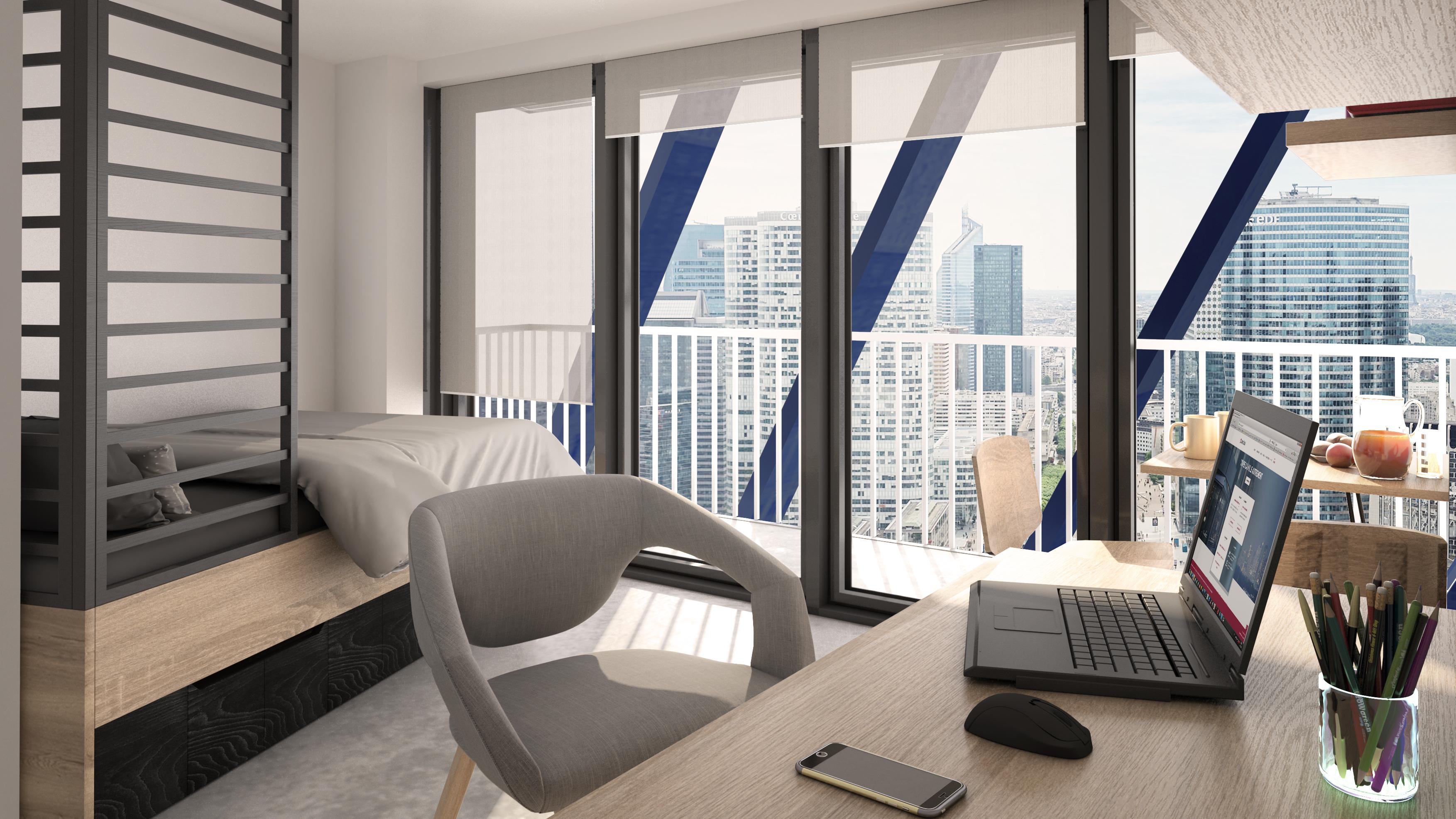 Chambre étudiant - Type 1 Rooftop