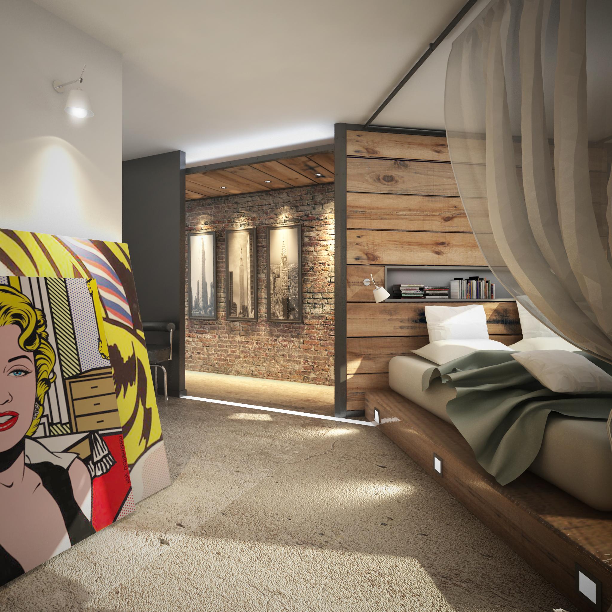 Loft Riviera - Vue chambre