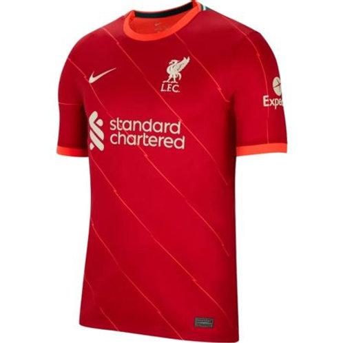 Camisa Nike Liverpool I 2021/22 Torcedor Pro Masculina Vermelha