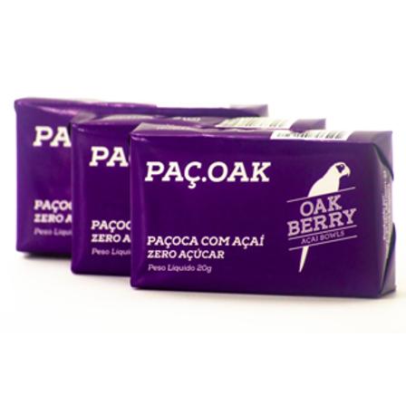 Paçoca Com Açaí Zero Açúcar Oak 20g