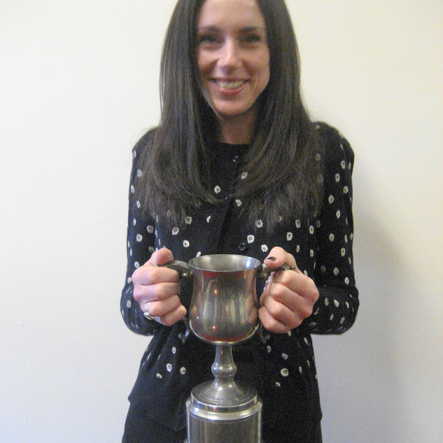 5. Jane with the trophy for Best Actress.JPG