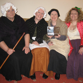 Cast of 'Bread & Blood' , March 2009, with Royalty Players Trophy..JPG