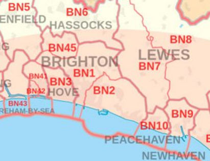 Brighton & Hove area map