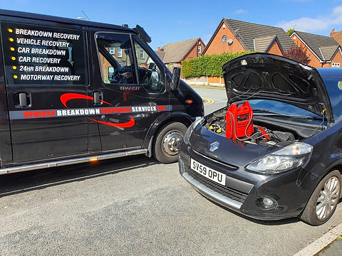 jump start service Wigan, Warrington.
