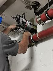 Neueinbau einer asbesthaltigen Brandschutzklappe | SAN TECH GMBH