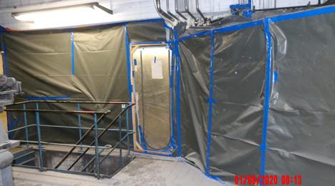 Staubabschottung zum Maschinenhaus