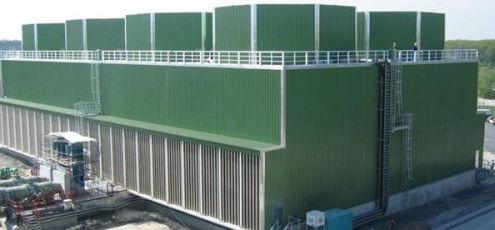 Kühlturmneubau - Zellkühlturm nach Fertigstellung | SAN TECH GMBH