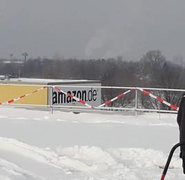 Schneeberäumung Dachfläche Amazon Leipzig