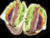 ローストビーフサンドセットの写真