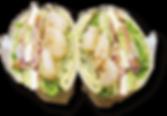 シュリンプチーズサンドセットの写真