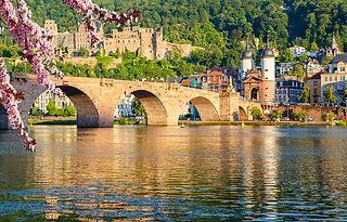 Bridge in Heidelberg at spring shutterst