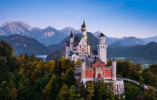 Neuschwanstein Castle in Bavaria shutter