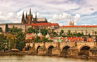 Prague castle Hradcany and Charles bridg