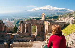 Greek theater in Taormina shutterstock_3