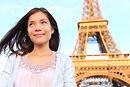 Eiffel tower Paris tourist woman (shutte