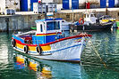 Boat in the Fishing Harbor of Sesimbra s
