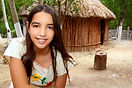 Mexican indian Mayan latin girl in jungl