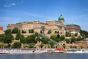 Buda Castle (Royal Palace) and passenger