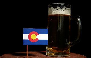 Colorado flag with beer mug shutterstock