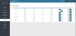 Web GUI Output page