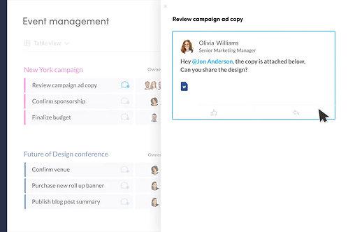 Real Time Marketing Calendar & Task Manager