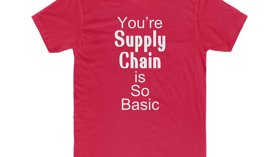 """Men's Supply Chain Basic """"White Letter"""" T-Shirts - 11 Colors"""