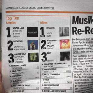 Platz #5 in der Schweizer Hitparade