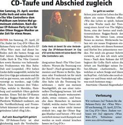 Neue Oltner Zeitung, 2015