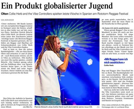 Oltner Tagblatt, 2012