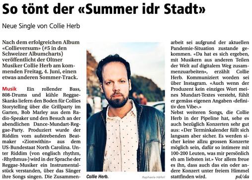 Neue Oltner Zeitung: Collie Herb - Summer idr Stadt