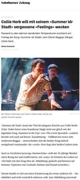 Solothurner Zeitung: Collie Herb - Summer idr Stadt